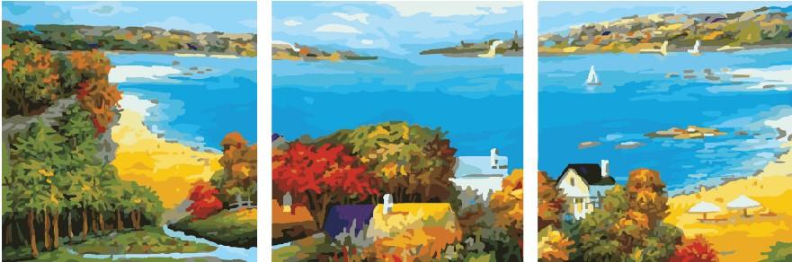 Триптихи 50x50 «Морское   побережье»